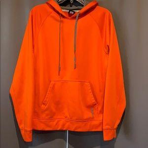 ~REEBOK~ Boys Mens S ORANGE Logo Hoodie Sweatshirt